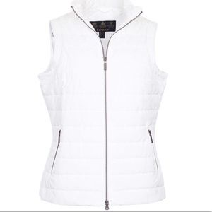 Barbour current gilet quilted vest in white